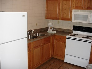 kitchen in lodging unit