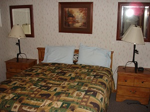bedroom in lodging unit