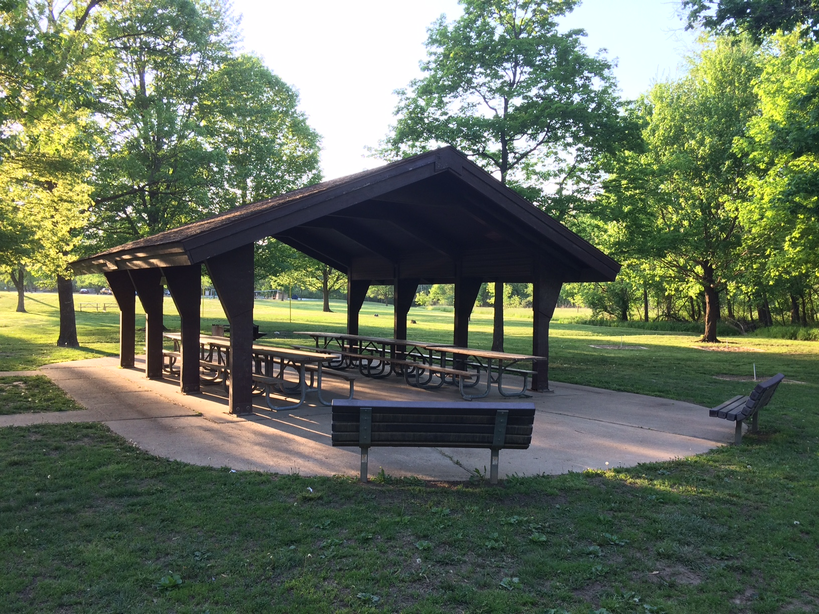 open picnic shelter and grill