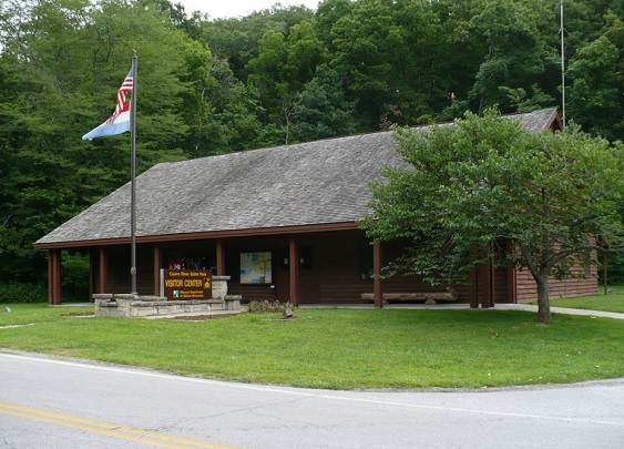 exterior of visitor center
