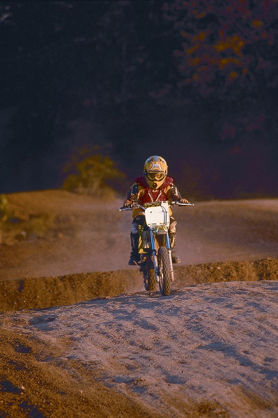 Man riding dirt bike on motocross track at Finger Lakes State Park