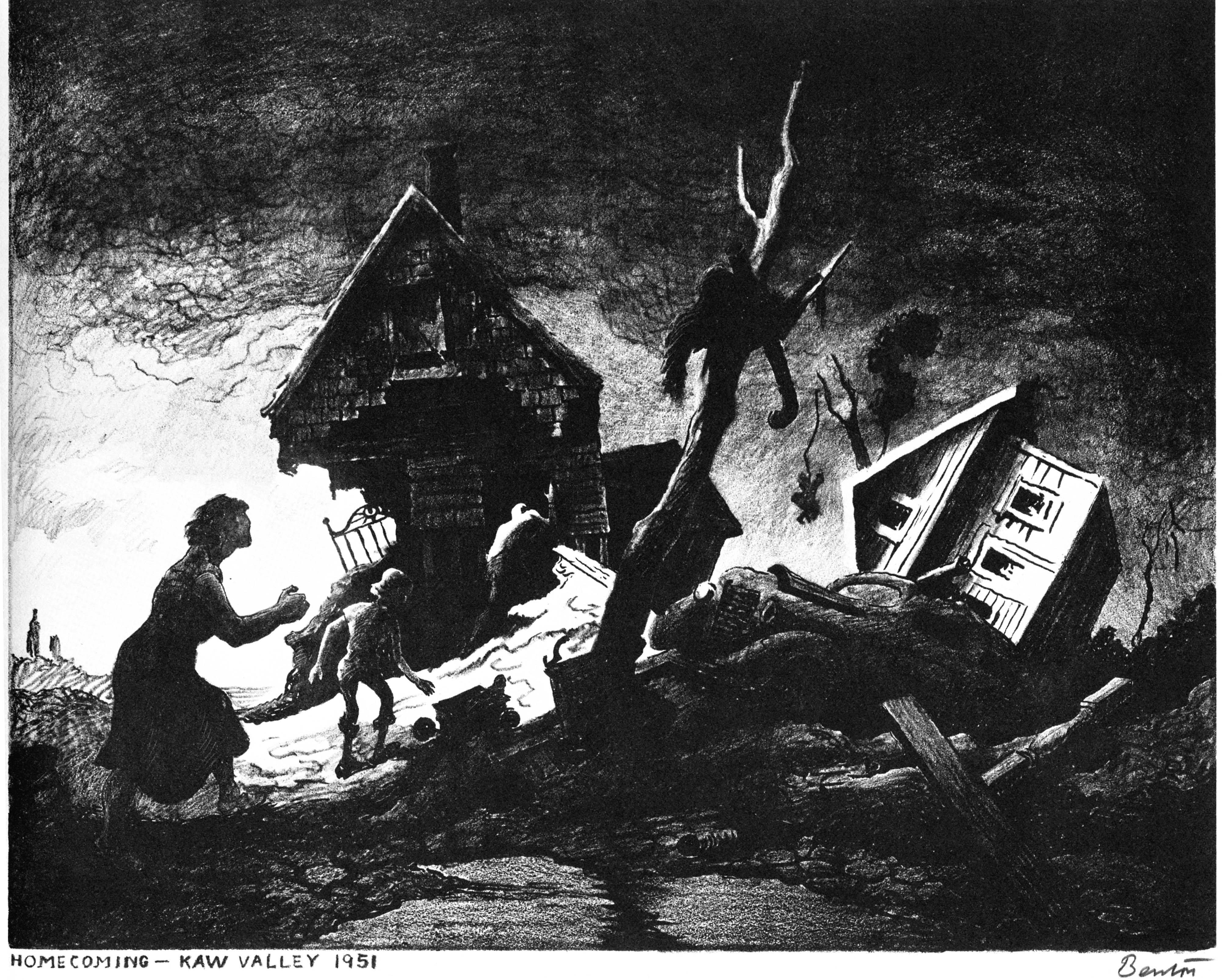 Benton's flood lithograph