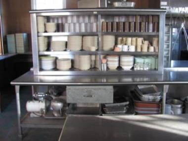dishes stacked in the kitchen