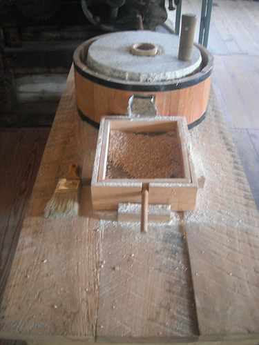 grinding stone inside the mill