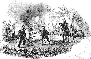 drawing depicting the battle