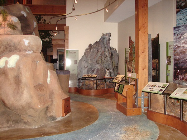 interior exhibits inside the visitor center
