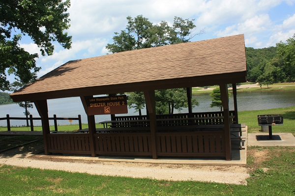 picnic shelter and large grill