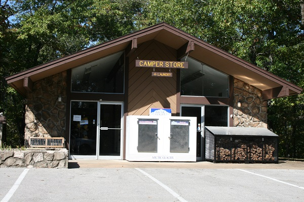 exterior of the campground store