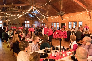 wedding reception inside the lodge