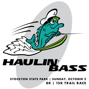 Haulin' Bass 2016 logo with a fish skiing