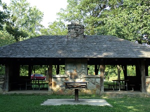 exteiror of picnic shelter  and grill