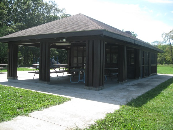 exterior of the picnic shelter