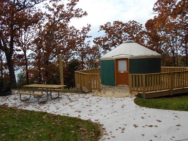 Exterior of the yurt