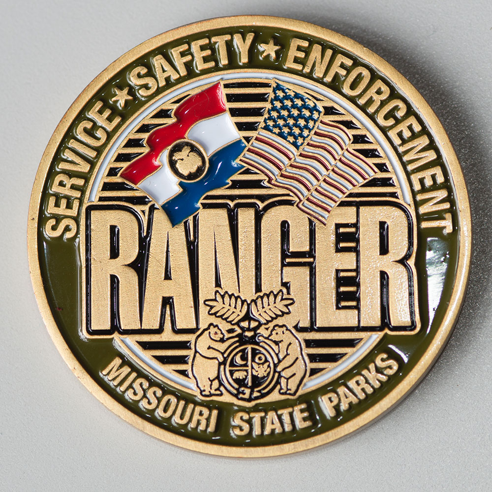 Service, Safety, Enforcement Ranger coin