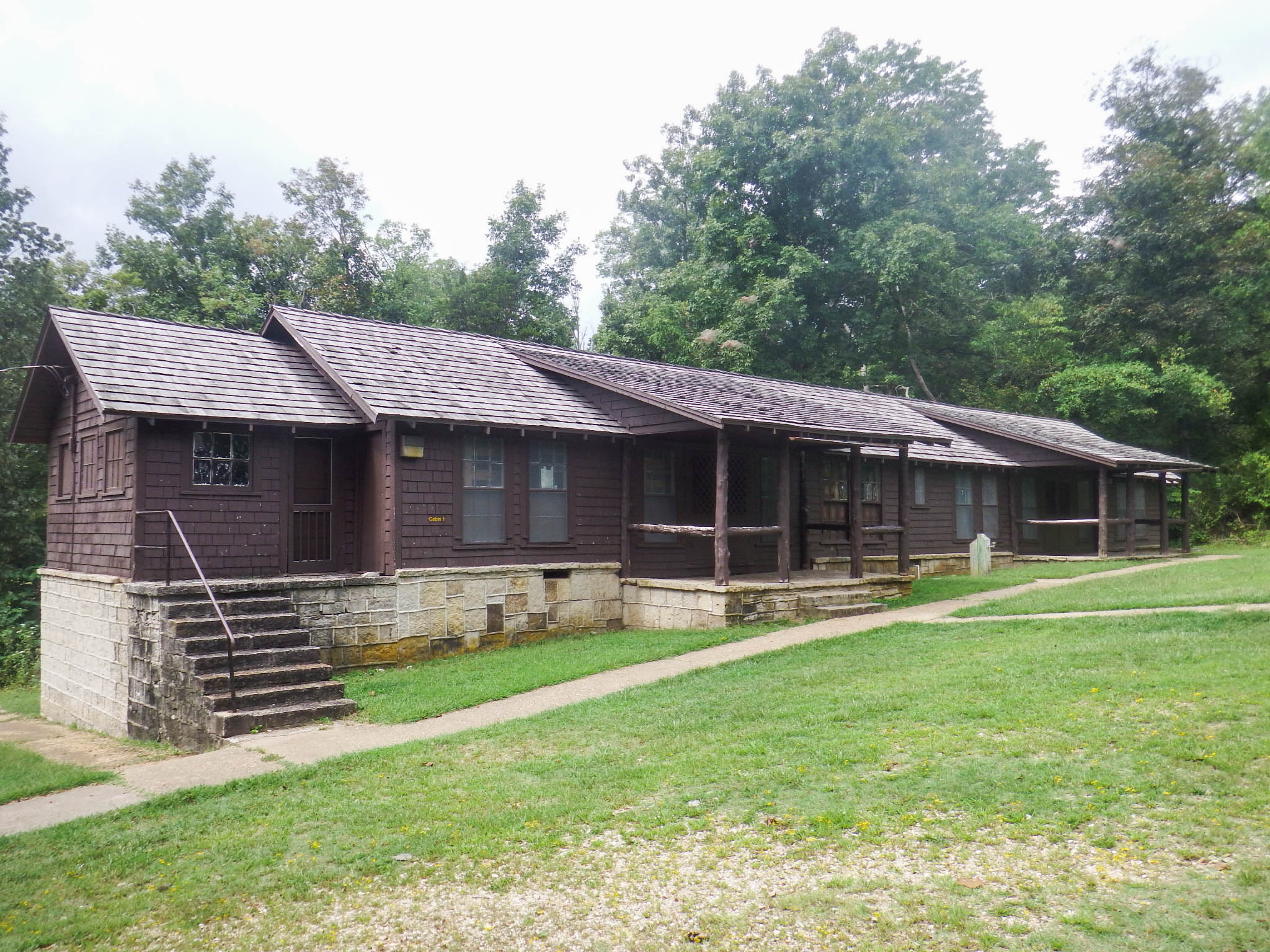 exterior of one of the cabins