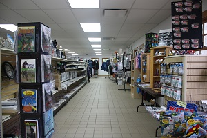 aisle of items available in the store