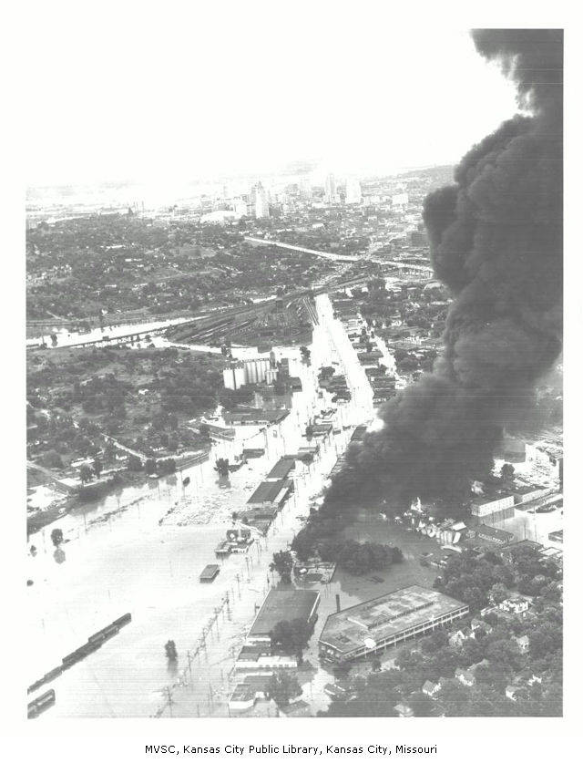 overview of SW Boulevard fire
