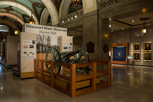 canon on exhibit in the History Hall