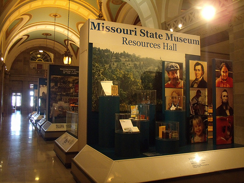 exhibits in the Resources Hall