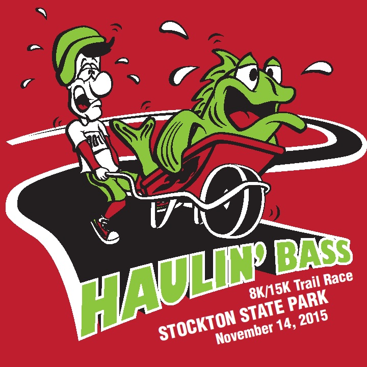 2015 Haulin' Bass logo with a cartoon man pushing a wheelbarrow with a fish in it
