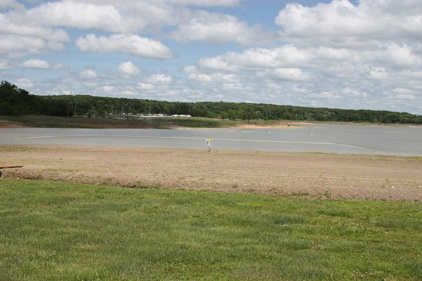 the beach along Mark Twain Lake