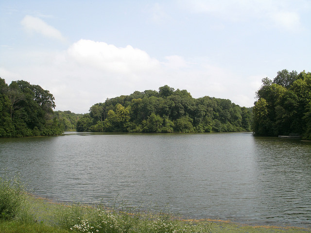 a small fishing lake