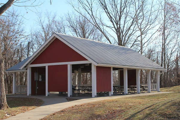 the open picnic shelter