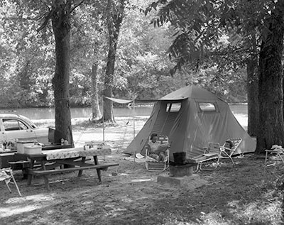 Camping in the 1950s