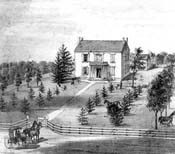 historic sketch of the house