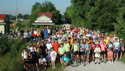 Katy Trail Ride Group Photo.