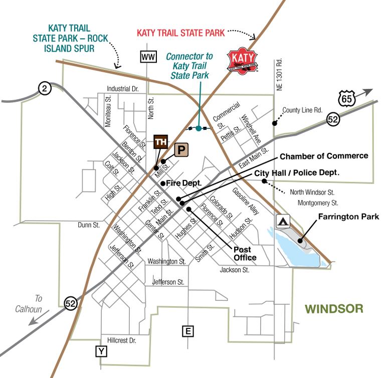 Windsor Trailhead - Rock Island Spur | Missouri State Parks on map cities in missouri, map bridges in missouri, map casinos in missouri, map congressional districts in missouri, map railroads in missouri, map airports in missouri, map universities in missouri, map rivers in missouri,