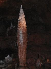 Stalagmite in Onondaga Cave